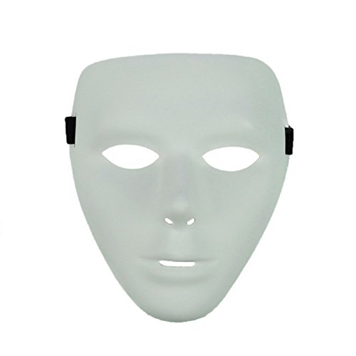 EmazingLights Adult Costume Hip Hop Dance Mask (White) ()