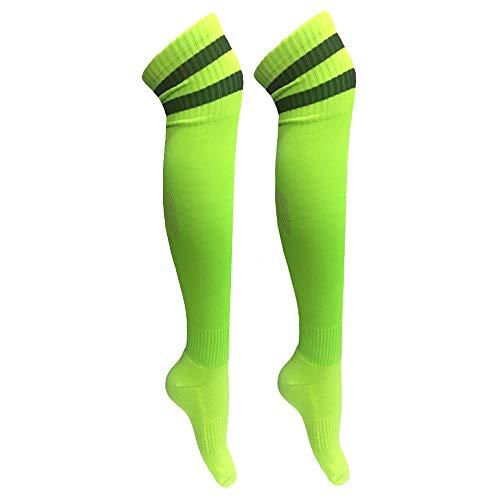 Unisex Over Knee High Socks Football Performance Towel Bottom Stripe Stocking ()