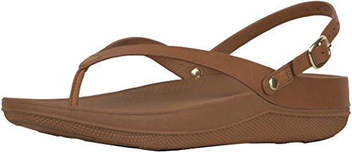d66262725 Galleon - FitFlop New Women s Flip Leather Back-Strap Sandals Caramel 5