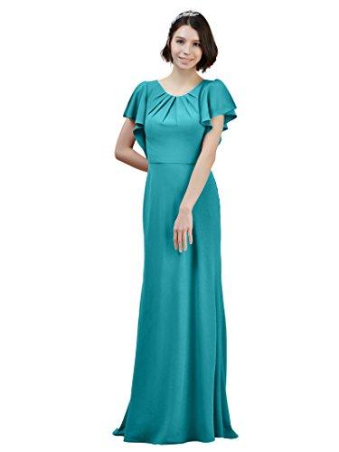 Robes De Mariée Sirène Alicepub En Mousseline De Soie W / Train Du Soir Maxi Formel Fête Turquoise Robe