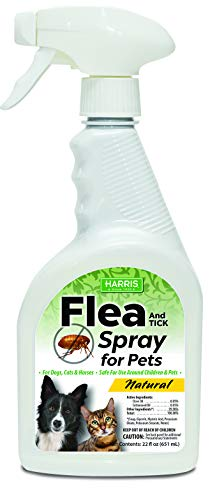 Harris Natural Flea & Tick Killer for Home, for Use on Dogs and Cats, 22oz Flea Treatment Spray