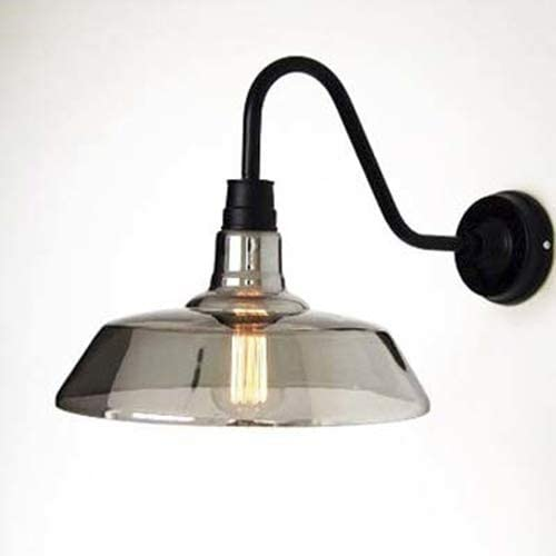 LITFAD 12'' H Single Light Gooseneck Barn LED Wall Light
