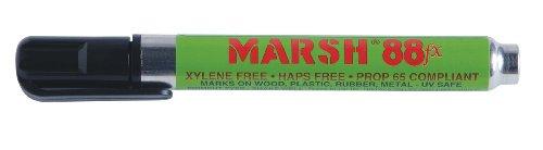 Marsh Marker - MARSH Alcohol Based FX Pigmented Type Valve Activated Marker, Black (Pack of 12)