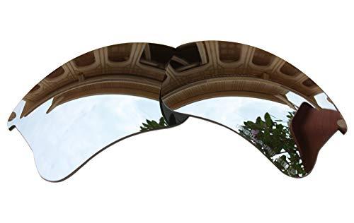 (BVANQ Lenses Replacement Polarized for Oakley Flak Jacket XLJ Sunglasses (Black Iridium Mirror Coatings))