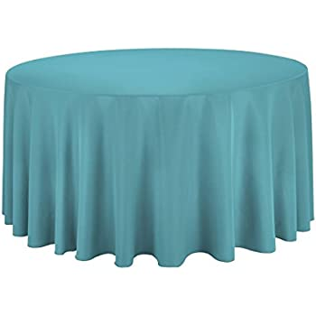 Lovely LinenTablecloth 120 Inch Round Polyester Tablecloth Turquoise