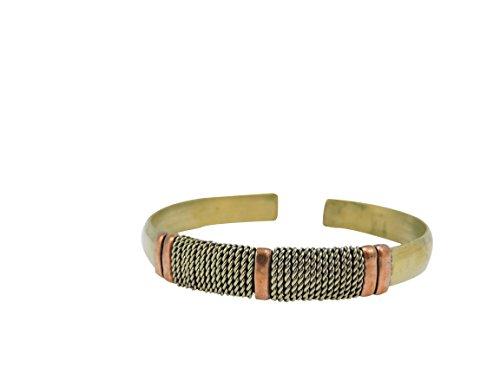Handmade Tibetan Three Metal Medicine/ Healing Bracelet From Nepal Adjustable Tibetan Three Metal