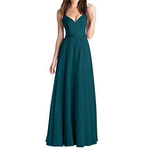 Gruen Chiffon Blau Promkleider Abendkleider A Elegant Linie Brautjungfernkleider Braut mia La Partykleider Lang Festlichkleider ZaHIOyq