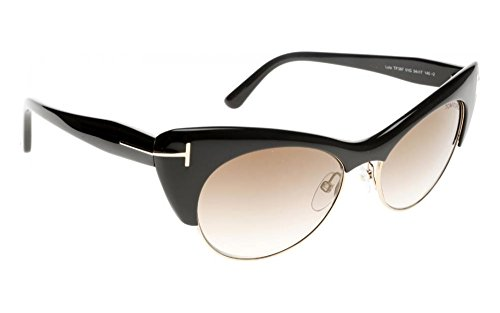 Tom Ford Lola Half-Rim 54MM Cat's-Eye Sunglasses - Ford Tom Eye Cat Glasses