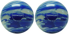 Epco Candlepin Bowling Ball- Marbleized - Blue & White (4...