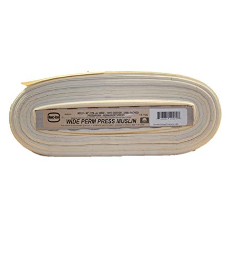 Roc-lon 86210 No.5125 90-Inch Wide Permanent Press Muslin, 15-Yard, Unbleached ()