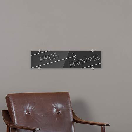 Free Parking Basic Black Premium Acrylic Sign 24x6 CGSignLab 5-Pack