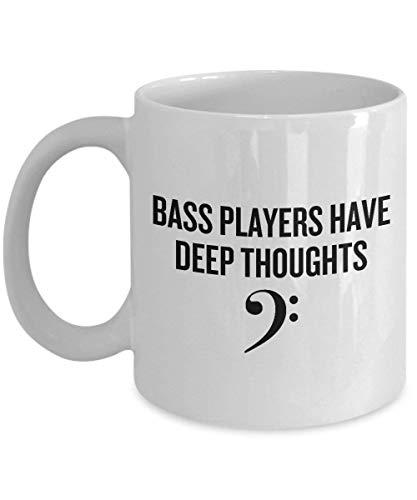BeauMUG Funny Bass Coffee Mug Double Bass Or Bass Guitar Gift Bass Player Present Bass Players Have Deep Thoughts no.655904