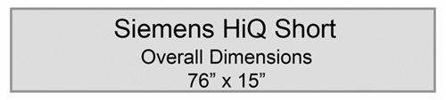 - Radiolucent X-Ray Specialty Table Pad - Siemens HiQ Short, Overall Dimensions 76