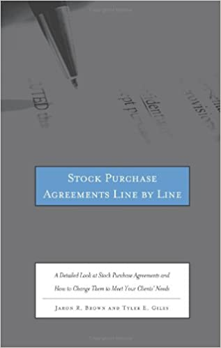 Stock Purchase Agreements Line By Line A Detailed Look At Stock