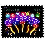 Celebrate 20 x Forever 1st Class US Postage Stamps NEW USPS