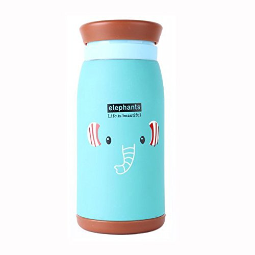Kids Water Bottle - Kid Water Bottle - Thermos Water Bottle Kids - Cartoon Thermos Cup Bottle Stainless Steel Thermocup Vacuum Thermal Mug 260ml/350ml Funny Gift(Blue 350ml)
