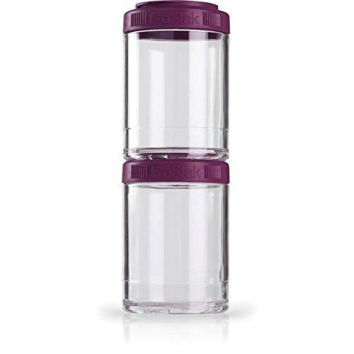 BlenderBottle GoStak Twist n Lock Storage Jars, 150cc 2-Pak, Plum