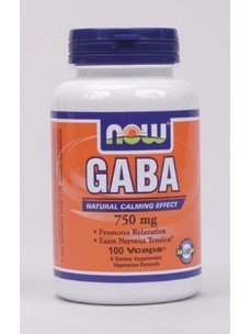 Now Foods GABA 750mg - 100 Vcaps 12 Pack