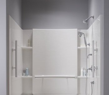 Biscuit Accord - Sterling Plumbing 71164103-V-96 Accord Bathtub Wall Surround 55.25-in x 60-in x 36-in Biscuit