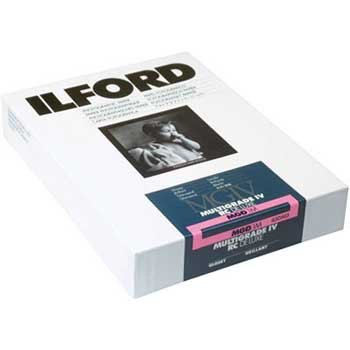 Ilford 8 x 10in Glossy MG IV RC Deluxe RC B&W Enlarging Paper (250 Sheets) by Ilford