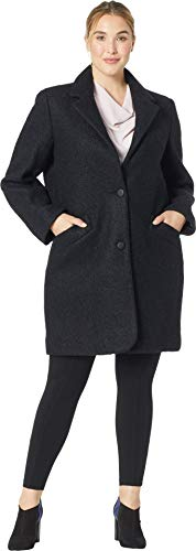 Marc New York by Andrew Marc Women's Plus Size Paige - Pressed Boucle Black 18 W -