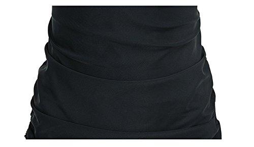 Shangrui Mujer Traje de Baño de la Serie Espesar Conservador Eslinga Impreso de una pieza Traje de Baño,Tamaño Grande(FZWH7708) 08Negro