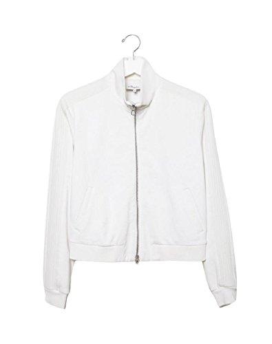 3.1 Phillip Lim Trapunto White Track Jacket L - 3.1 Phillip Lim Sweater