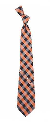 Philadelphia Flyers Check Polyester Neck Tie NHL Hockey Team Logo