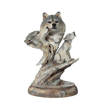 Mill Creek Studios - Family Song - 3866 - Wolf Sculpture, gray, - Mill Studios Creek
