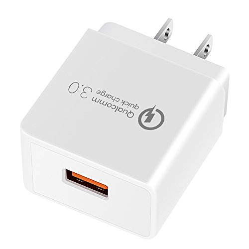 YOKERSU Wall Charger Good-SHE GS-551 18W Quick Charge 3.0 (QC 2.0 Compatible) USB Smart Charging Adapter for Galaxy S7/S6/Edge/Plus/Note 5/4/LG G4/HTC One A9/M9/Nexus 6 and More