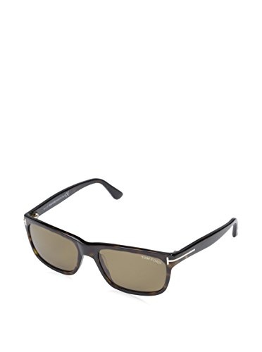 Tom+Ford+0337S+56J+Tortoise+Hugh+Rectangle+Sunglasses+Lens+Category+3+Lens+Mirr