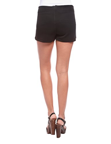 Les Sophistiquees Shorts con Pannello, Pantalón para Mujer Negro