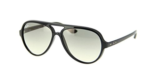 Ray Ban RB4125 601/32 59mm Black/Crystal Gray Gradient Cats 5000 Bundle-2 - Gray Ban Gradient Ray Aviator