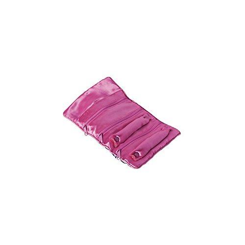 Pack of 5, Zebra Print with Pink Trim Jewelry - Jewelry Roll Trim