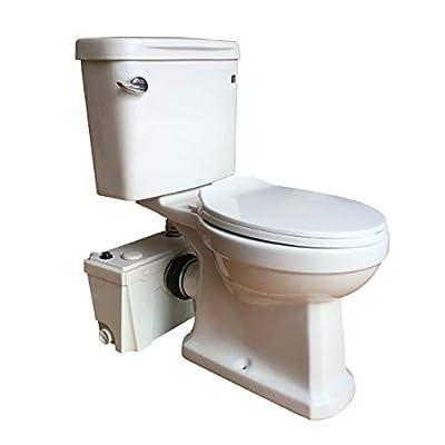 Sanimove 500W Macerator Pump Toilet Three Piece Round Bowl Toilet with Macerating Pump Macerating Upflush Toilet Kit Macerating Toilet