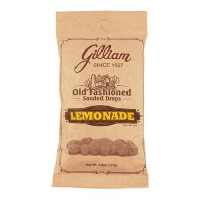Candy Hard Daisy - Gilliam Old Fashioned Lemon Flavored Sanded Drops (4.5 oz. Bag) (Lemon 4.5 Ounce)