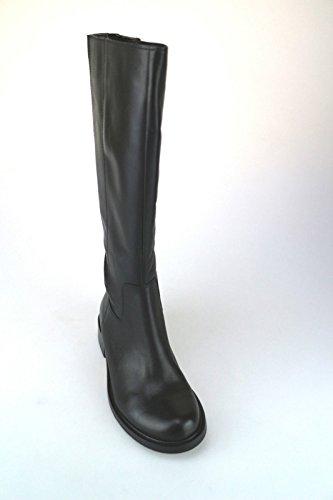 Schuhe Damen KEYS Stiefel Schwarz Leder AJ127