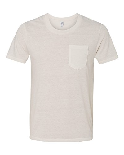 Alternative-Mens Eco Jersey Pocket T-Shirt-1939-Small-Eco Ivory