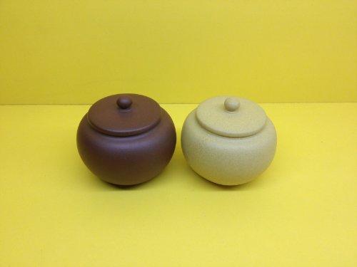 Handmade Zisha Clay Mini Tea Canister/ Travel Tea Caddy/mini Storage Box(set of 2/100ml) by Gongfu Sado