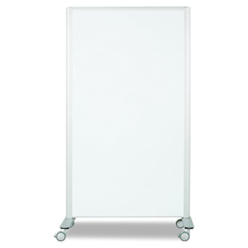 Frame Magnetic Markerboard - Best-Rite Mobile Lumina Room Divider, Double Sided Magnetic Whiteboard Panel, Platinum Frame (74861)