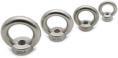 JWJY Lifting Eye Nuts//Screw Ring Eyebolt Ring hooking nut Screws M3 M4 M5 M6 M8 M10 M12 304 Stainless Steel Color : Lifting Eye Screws, Size : 1pcs M12