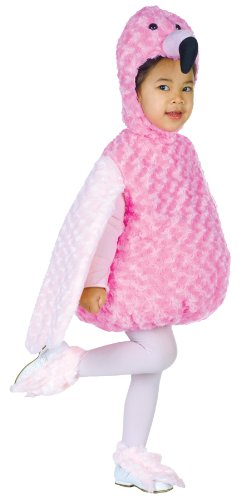 Boy's Flamingo Animal Belly Babies Outfit Infant Toddler Halloween Costume, Toddler (2-4T) Pink/White ()