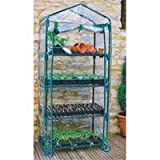 Cheap Four Tier Greenhouse with 4 Shelves