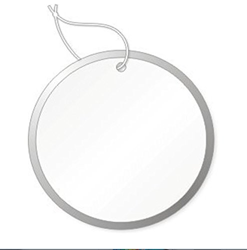 Round Tags with Metal Rims, 1-9/16 inch, White with Knotted String Attached, Box of 500 (Rim Metal White)