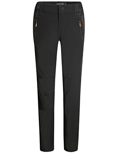 Camii Mia Women's Outdoor Sports Windproof Waterproof Hiking Pants (W28 x L30, Black)
