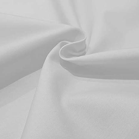 Popelin algodón blanco: Amazon.es: Hogar