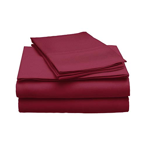 eLuxurySupply 100% Modal Sheet Set - 300 Thread Count | Single Ply - Sateen Weave | Set Includes One Flat Sheet, One Fitted Sheet & Two Pillowcases - Multiple Sizes & Colors