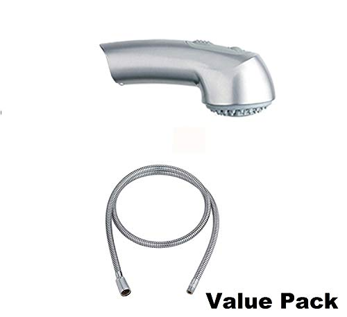 Grohe 46298SD0 Ladylux Stainless Steel Pull-Out Spray, PLUS Grohe 46092000 Pull-Out Spray Replacement Hose by GROHE (Image #3)