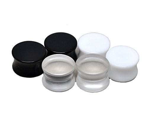 Pairs Acrylic Plugs Black Clear product image