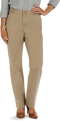 Petite Ladies Jeans - LEE Women's Petite Relaxed-Fit All Day Pant, Flax, 10 Petite